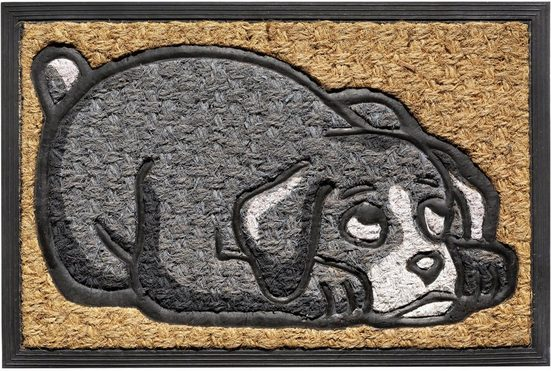 Fußmatte »Fußmatte FußKokos In- & Outdoor Gummi Hund 40x60 cm«, matches21 HOME & HOBBY, rechteckig, Höhe 10 mm