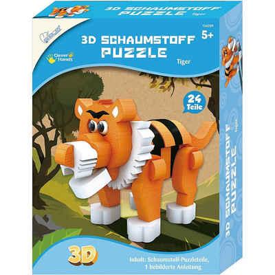 MAMMUT Spiel und Geschenk 3D-Puzzle »3D Schaumstoff Puzzle Tiger«, Puzzleteile