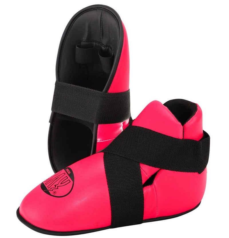 BAY-Sports Fußschutz »Kickboxen S-Kick Fußschützer Kampfsport Fußschoner«, Für Kinder und Erwachsene, XXS - M, Safety, Kunstleder