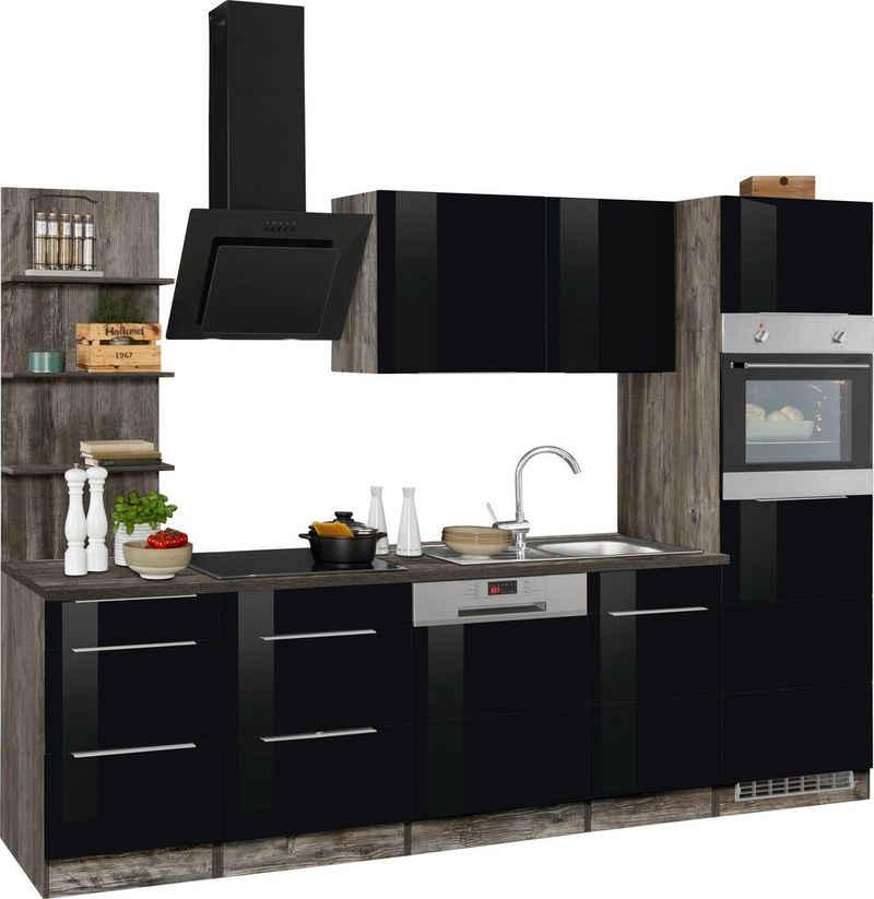 HELD MÖBEL Küchenzeile »Brindisi«, mit E-Geräten, Breite 280 cm