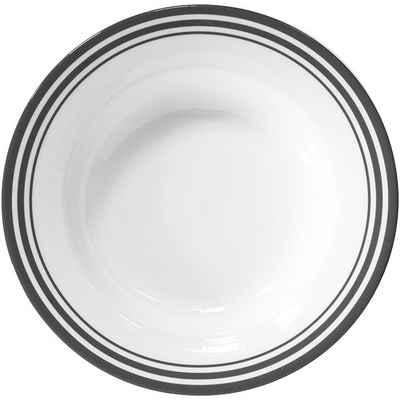 Fink Pastateller »Moments«, (4 Stück), Ø 30 cm, Porzellan mit 3 Streifen