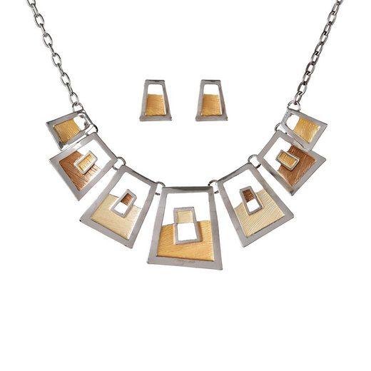 Mein Style Collier-Set »Collier mit Ohrringen COM011« (1 Stück, 1-tlg., Kette mit Ohrringen), verstellbare Gesamtlänge