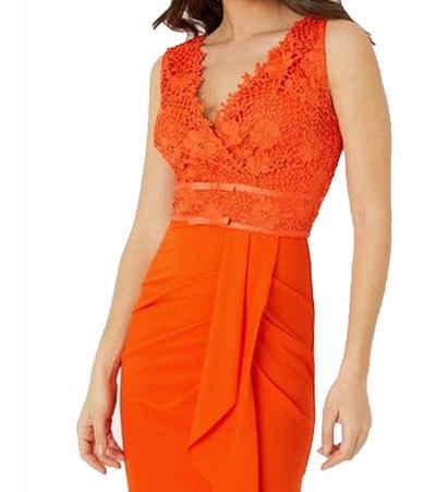 LIPSY Sommerkleid »LIPSY LONDON Abend-Kleid festliches Damen Kleid mit asymmetrischem Saum Party-Kleid Orange«