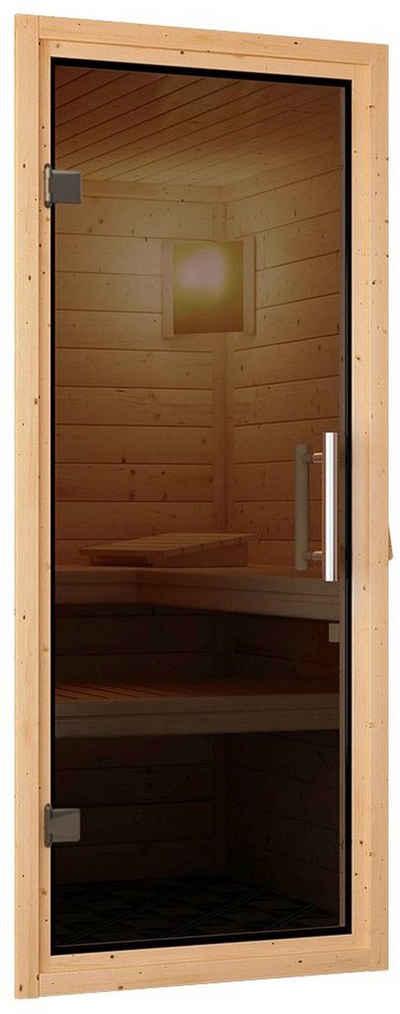 Karibu Saunatür »Türpaket 38 + 40 mm Modern - Graphit«