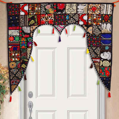 Türvorhang »Indischer Türvorhang Toran 110x100 cm (BxH) Orientalischer Türbehang Patchwork-Design, Vintage Fenstervorhang Boho Ethno Stil«, Casa Moro, (1 Stück), MA6207