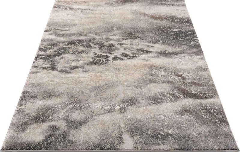 Teppich »Marmor«, my home, rechteckig, Höhe 12 mm, Marmor-Optik, Wohnzimmer