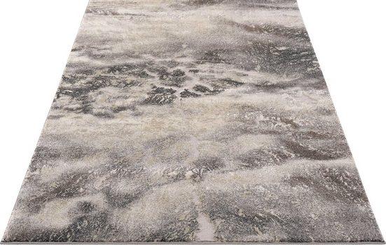Teppich »Marmor«, my home, rechteckig, Höhe 12 mm, Marmor-Optik