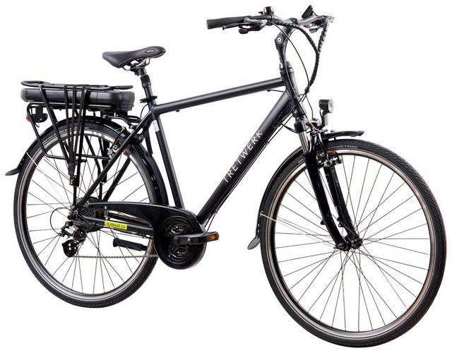 TRETWERK E-Bike Trekking Herren »Alkmaar 2.0«, 28 Zoll, 24-Gang, Hecknabenmotor, 418 Wh*