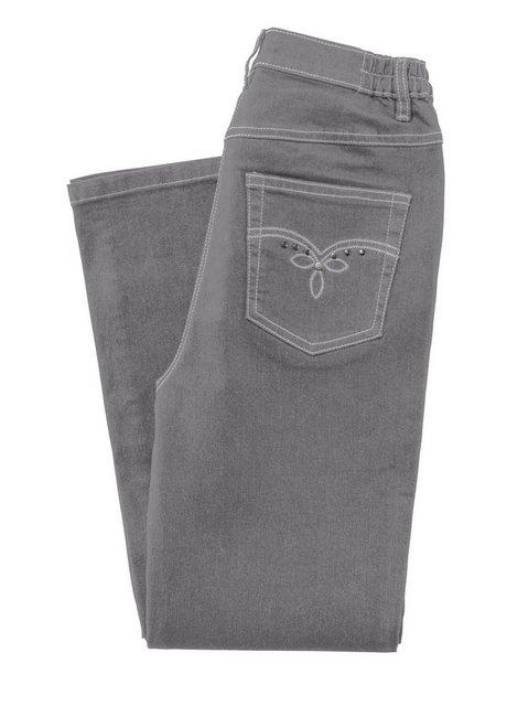 Hosen - Classic Basics 5 Pocket Jeans › grau  - Onlineshop OTTO