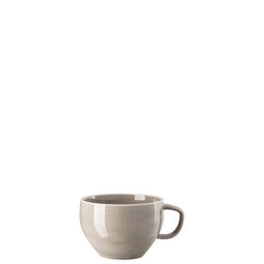 Rosenthal Latte-Macchiato-Tasse »Junto Pearl Grey Cafe au Lait Obertasse«, Porzellan