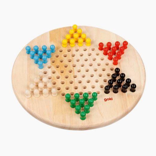goki Spiel, Logigspiel »Brettspiel Halma 29cm«, Das Stern-Halma ist ein Klassiker unter den Gesellschaftsspielen.
