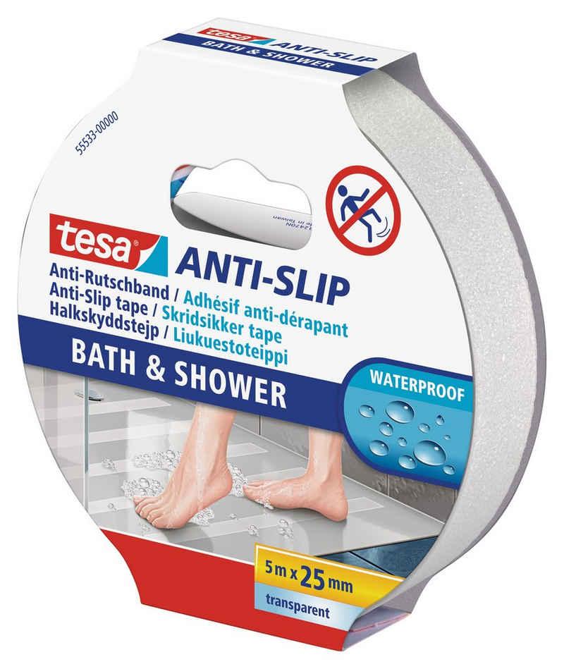 tesa Verlegeband »Anti-Rutschband Bad & Dusche« (1-St) Wasserfest, Für Badenwannen, Duschen und Treppen