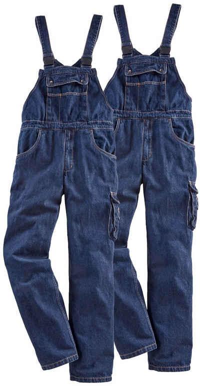 Latzhose »Worker Jeans 2er Set« (2-tlg) mit dehnbarem Bund