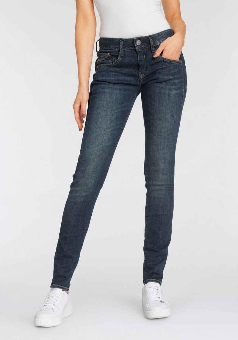 Herrlicher Slim-fit-Jeans »GINA SLIM POWERSTRETCH« mit seitlichem Keileinsatz