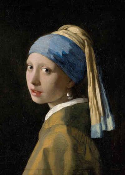 Art for the home Leinwandbild »Meisje met de pare, Jan Vermeer«
