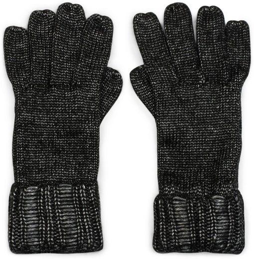 styleBREAKER Strickhandschuhe Glänzende Strick Handschuhe