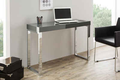 riess-ambiente Konsolentisch »GREY DESK 120cm dunkelgrau«, Konsole · Hochglanz · Bürotisch · Modern Design