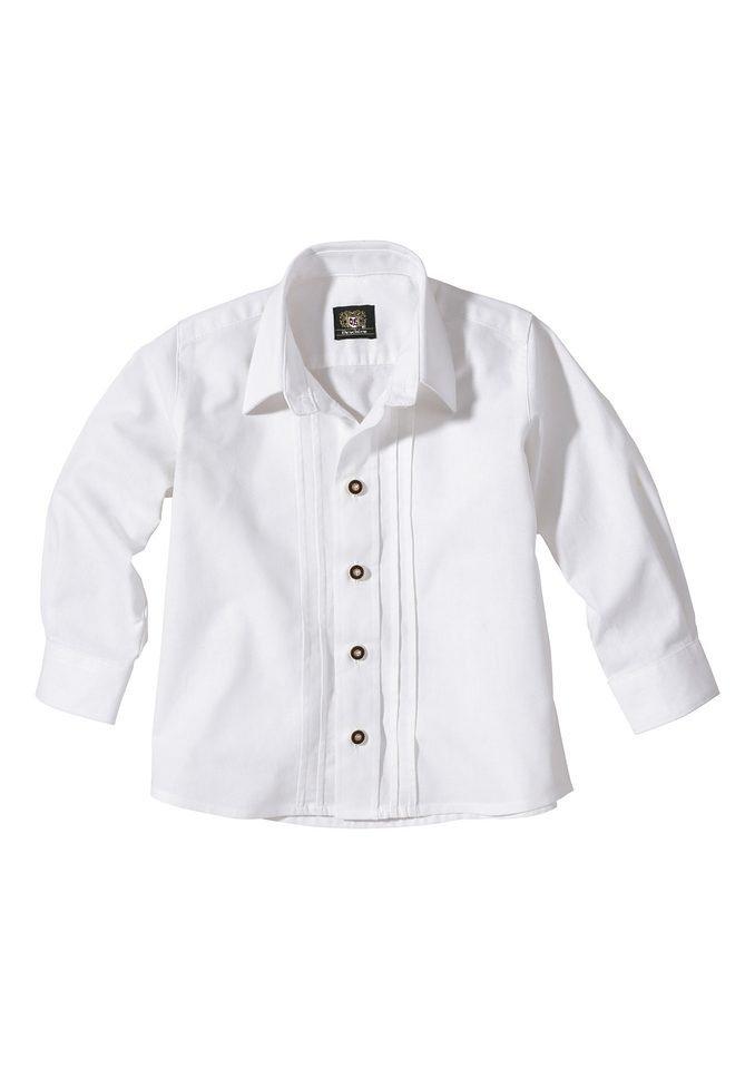 Herren,  Kinder OS-Trachten Trachtenhemd Kinder mit Biesen weiß | 04006109070346