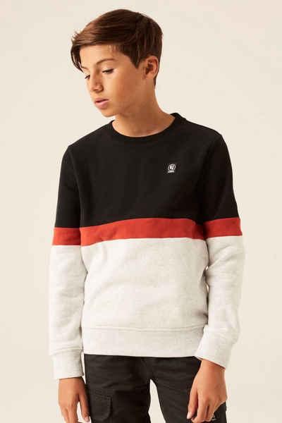 Garcia Sweater »H13661 - 1755-off black 1« mit Colourblock