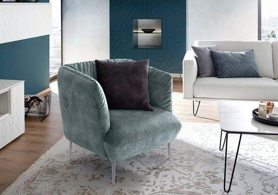 Villeroy & Boch Sessel »ELLA«, Füße Silber matt