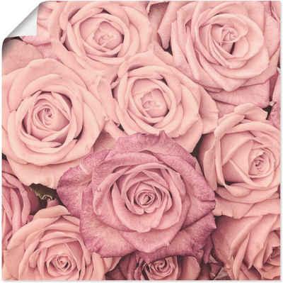 Artland Wandbild »Rosen«, Blumen (1 Stück), in vielen Größen & Produktarten -Leinwandbild, Poster, Wandaufkleber / Wandtattoo auch für Badezimmer geeignet