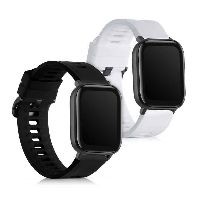 kwmobile Uhrenarmband, 2x Sportarmband kompatibel mit Huami Amazfit GTS 2 Mini - Armband TPU Silikon Set Fitnesstracker
