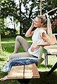 Musterring Gartentisch »Freilicht - Tisch: Holland«, Teak massiv gebürstet mit Baumkante, Aluminium Gestell, Länge 220 cm, Bild 7