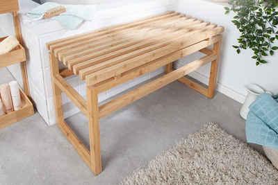 riess-ambiente Sitzbank »LAGOON SPA 74cm natur« (1-St), Massivholz · Badezimmer · Holzbank · Badezimmermöbel · Bambus