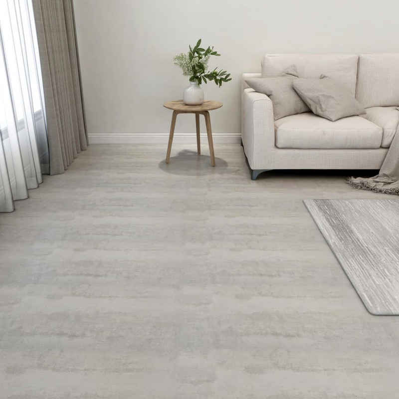 vidaXL Fußboden »vidaXL PVC-Fliesen Selbstklebend 55 Stk. 5,11 m² Hellgrau«
