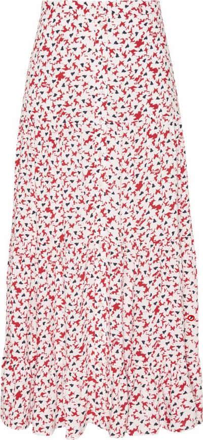 Tommy Jeans Volantrock »TJW Printed Tiered Midi Skirt« mit allover modischem Blumenprint