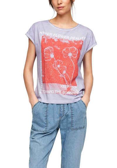 Q/S designed by T-Shirt mit großem, sommerlichen Frontprint