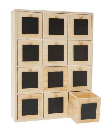 VBS Aufbewahrungsbox »Mini-Kommode Tafelfront«, 12 Schübe 31,5 cm x 24 cm