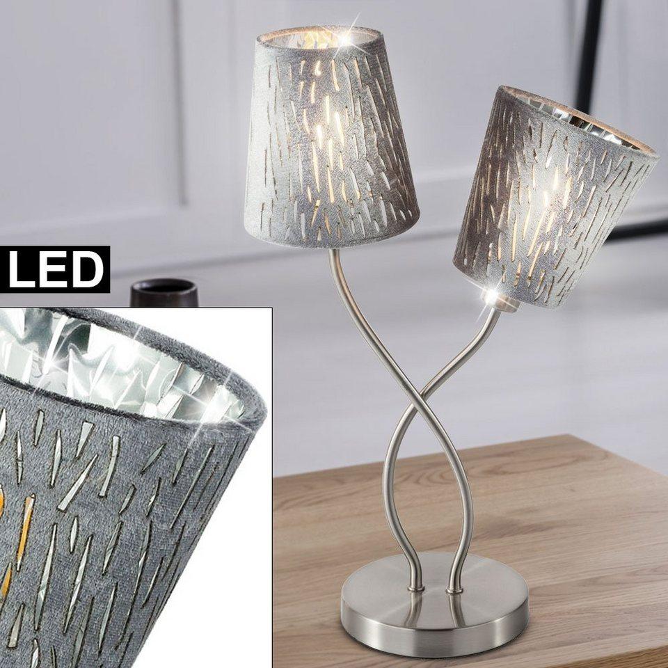 etc shop Tischleuchte, Schreib Tisch Leuchte Arbeits Zimmer Textil Schirm  Büro Lese Lampe im Set inkl. LED Leuchtmittel online kaufen   OTTO
