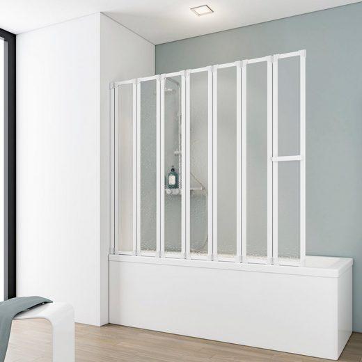 Schulte Badewannenfaltwand »Luxus«, Acrylglas, (7 tlg), gerahmt, BxH: 150 x 140 cm
