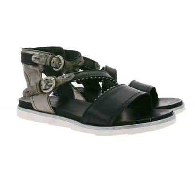 Arizona »ARIZONA Riemchen-Sandalen metallisch-glänzende Sandaletten mit Nieten-Besatz Sommer-Schuhe Schwarz-Grau« Sandalette