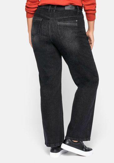 Sheego Stretch-Jeans mit extra weitem Beinverlauf