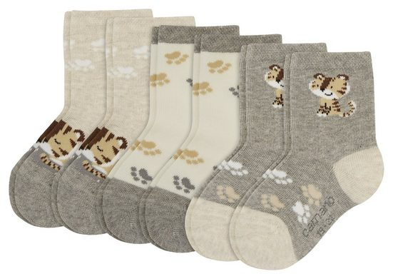 Camano Socken »Cleo« (6-Paar) mit niedlichen Motiven