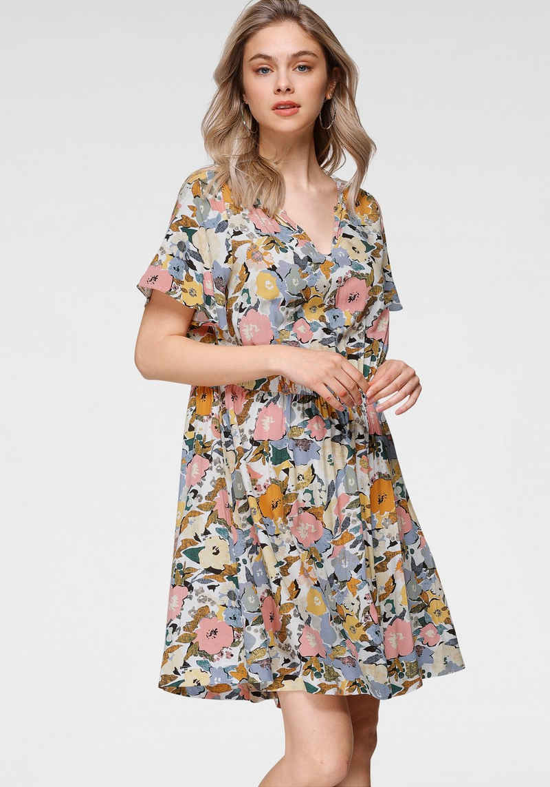Saint Tropez Druckkleid »SZ-HILA-DRESS« Mit Blütenmuster
