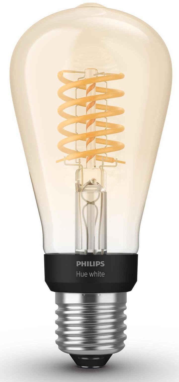 Philips Hue »White Filament Einzelpack 1x550lm Edison Form« LED-Filament, E27, 1 Stück, Extra-Warmweiß