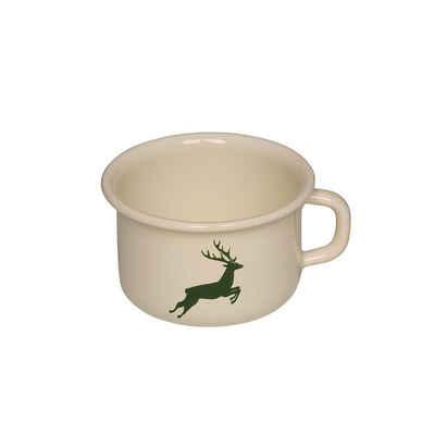 Riess Tasse »Kaffeeschale Emaille Hirsch Grün«, Emaille