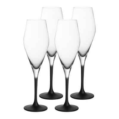 Villeroy & Boch Champagnerglas »Manufacture Rock Champagnerkelch Sektglas 260 ml«, Glas