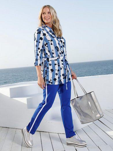 MIAMODA Bluse mit streckendem Muster