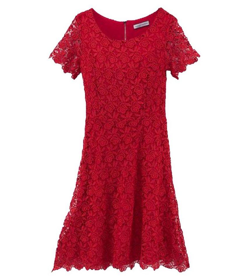 GUIDO MARIA KRETSCHMER Minikleid »GUIDO MARIA KRETSCHMER Mini Kleid  reizvolles Damen Spitzen Kleid in floraler Optik Freizeit Kleid Rot« online  kaufen ...