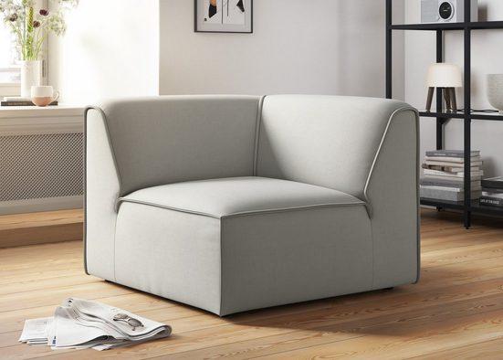 """COUCH♥ Sofa-Eckelement »Fettes Polster«, Modulelement, viele Module für individuelle Zusammenstellung s. """"Fettes Polster"""" COUCH Lieblingsstücke"""
