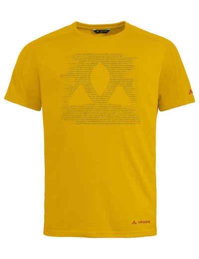 VAUDE T-Shirt »Men's Gleann T-Shirt« (1-tlg) Grüner Knopf