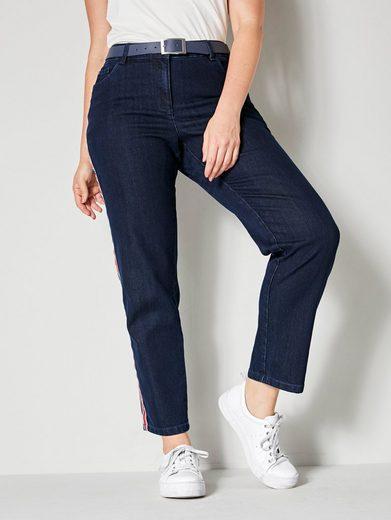 Sara Lindholm by Happy Size Jeans mit seitlichem Band