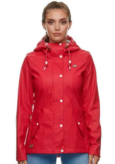 Ragwear Regenjacke »MARGE« Regenjacke aus wasserabweisendem Material