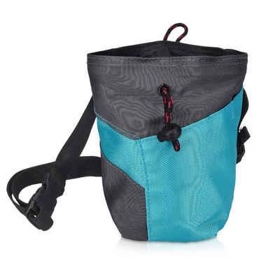 Navaris Sporttasche, Chalk Bag zum Bouldern Klettern - Magnesiabeutel mit Taillengurt Bürstenhalter Schlüsselfach - Kreidebeutel für Magnesiumcarbonat Kreide