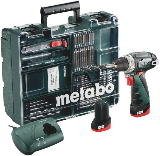 METABO Akku-Bohrschrauber »PowerMaxx BS Basic Set «, 10,8-Volt, umfangsreiches Zubehör