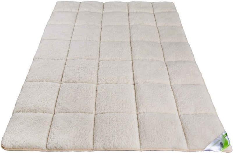 Matratzenauflage »Auflage Lammflor«, franknatur, Schurwolle, Topper mit Merinowolle für ganzjährige Nutzung